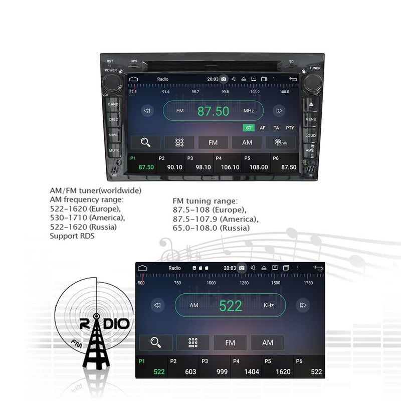 Android 10 Pie 2 Din Autoradio Stereo Navigation Headunit for Opel Vauxhall Antara/Zafira/Corsa/Meriva/Astra. Octa Core 1.5G CPU 32G Flash 4G DDR3 RAM. Auto Radio GPS 4G WIFI Bluetooth USB/SD DVD Player Carplay Steering Wheel Control OBDII. Plug and Play Double Din Vehicle Multimedia Player System Head Unit