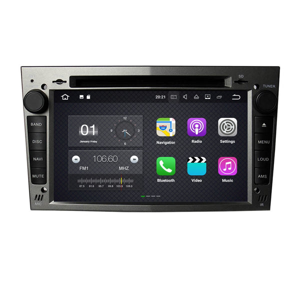 (Gray) 7 Inch Touchscreen Android 8.0 OS Car DVD for Opel Vectra Antara Zafira Corsa Meriva Astra - foyotech