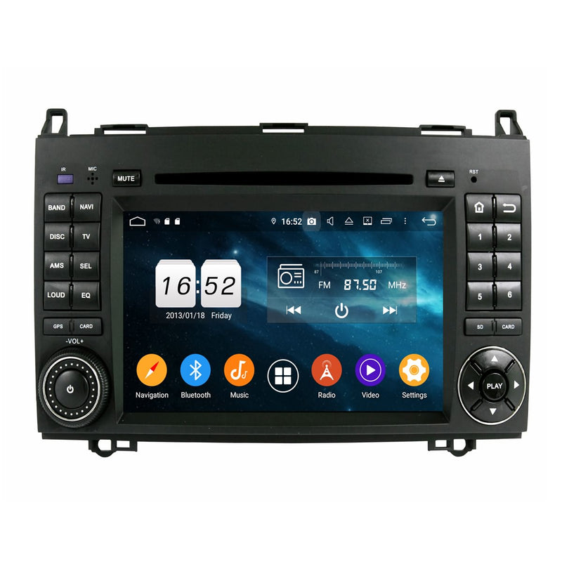 7 inch Touchscreen Android 9.0 OS Car GPS Navigation Head Unit for Benz W169&W245(2005-2011)/Viano&Vito(2009-2011), Octa Core 1.5G CPU 4G DDR3 RAM 32G Flash, Auto DVD Player Radio Bluetooth 4G WIFI - foyotech