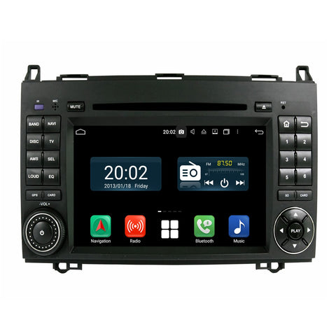 Android 10 1024x600 Touch Screen Autoradio Stereo Headunit for Benz W169&W245(2005-2011)/Viano&Vito(2009-2011), Octa Core 1.5G CPU 32G Flash 4G DDR3 RAM, Auto Radio GPS Navigation 3G 4G WIFI Bluetooth USB/SD DSP Carplay Auto Steering Wheel Control. Double Din Vehicle Multimedia Player System Head Unit. Plug and Play!