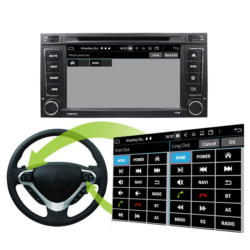 2 Din 7 inch Touch Screen Android 10 OS Autoradio Navigation Headunit for Volkswagen Touareg(2002-2010)/Multivan(2008-2012). 8 Core 1.5G CPU 32G Flash 4G DDR3 RAM. Auto Radio GPS Navi 3G 4G WIFI Bluetooth USB/SD DSP Carplay Auto Steering Wheel Control. Plug and Play Double Din Vehicle Multimedia Player System Head Unit.