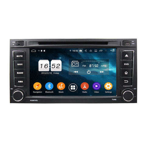 7 inch Touchscreen Android 9.0 OS Car Stereo for Volkswagen Touareg(2002-2010)/Multivan(2008-2012), Octa Core 1.5G CPU 4G DDR3 RAM 32G Flash, Auto DVD GPS Navigation Radio Bluetooth 4G WIFI - foyotech