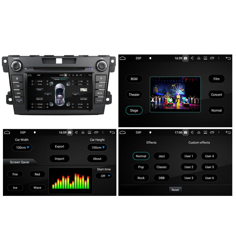 7 inch Touchscreen Android 10 Autoradio Stereo Navigation Headunit for Mazda CX7 2012 2013 2014. Octa Core 1.5G CPU 32G Flash 4G DDR3 RAM. 2 Din Radio DVD Player GPS 4G WIFI Bluetooth USB/SD DVD Player DSP Carplay Auto Steering Wheel Control OBDII. Plug and Play Double Din Vehicle Multimedia Player System Head Unit.
