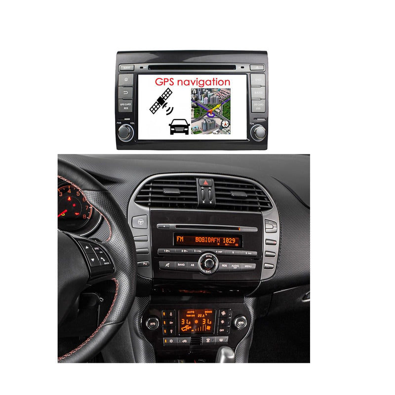 Android 10 Touch Screen 2 Din Autoradio Stereo Navigation Headunit for Fiat Bravo 2007 2008 2009 2010 2011 2012. 8 Core 1.5G CPU 32G Flash 4G DDR3 RAM. Auto Radio GPS Navi 3G 4G WIFI Bluetooth USB/SD DSP Carplay Auto Steering Wheel Control OBDII. Plug and Play cable Double Din Vehicle Multimedia Player System Head Unit