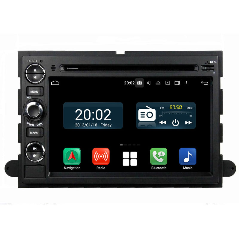7'' Android 10 Autoradio Stereo Navigation Headunit for Ford Fusion/Explorer/F150/Edge/Expedition/Mustang/Escape/F250. Octa Core 1.5G CPU 32G Flash 4G DDR3 RAM. 2 Din Auto Radio GPS 3G 4G WIFI Bluetooth USB/SD DVD Player MirrorLink Steering Wheel Control OBDII. Double Din Vehicle Multimedia Player System Head Unit.