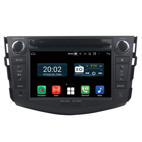 7 inch Touchscreen Android 10 Autoradio Stereo for Toyota RAV-4 2006 2007 2008 2009 2010 2011 2012, Octa Core 1.5G CPU 32G Flash 4G DDR3 RAM. 2 Din Car DVD Player GPS Navigation 3G 4G WIFI Bluetooth USB/SD DSP Carplay Auto Steering Wheel Control OBD2. Plug and Play cable Double Din Vehicle Multimedia System Head Unit.