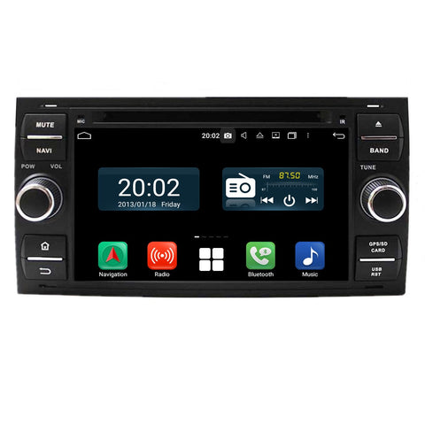 (Black) Android 10 2 Din 7'' 1024x600 Touch Screen Autoradio Headunit for Ford Focus/Fiesta/Kuga/Mondeo/Smax/Cmax/Galaxy/Fusion, Octa Core 1.5G CPU 32G Flash 4G DDR3 RAM, Car Radio GPS Navigation 3G 4G WIFI Bluetooth USB/SD DSP Carplay Steering Wheel Control. Double Din Vehicle Multimedia Player System Head Unit