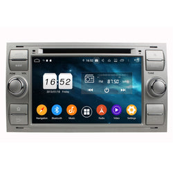 (Silver) Android 9.0 OS 7 inch Touchscreen Car Stereo for Ford Focus(2005-2007)/Fiesta(2005-2008)/Kuga(2008-2011)/Mondeo(2003-2007)/S-MAX(2005-2009)/C-MAX(2006-2010)/Galaxy(2000-2009)/Fusion(2006-2011) - foyotech