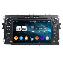 (Black) 2 Din Android 9.0 OS Car Stereo for Ford Mondeo/Transit Connect/S-Max/Focus, 7 inch  Touchscreen Auto DVD Player GPS Navigation Bluetooth 4G WIFI OBD2 MirrorLink, Octa Core 1.5G CPU 4G DDR3 RAM 32G Flash - foyotech