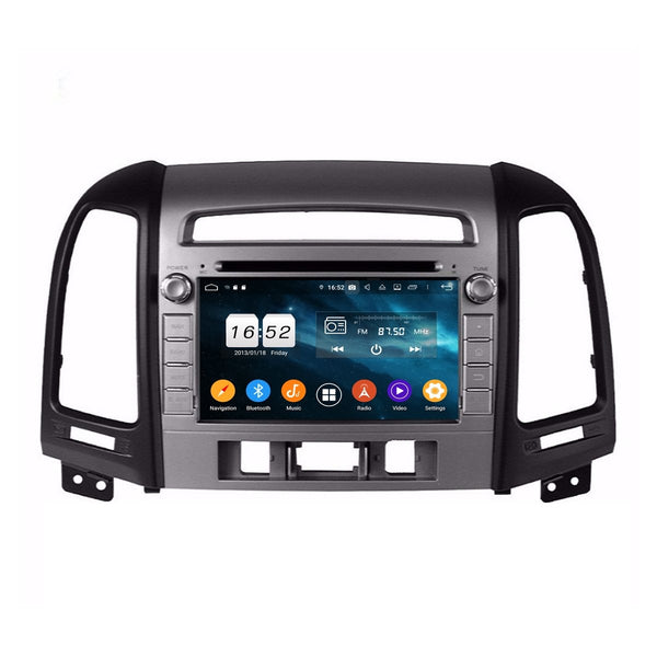 7 inch Android 9.0 OS Car GPS Navigation Headunit for Hyundai Santa Fe(2006-2012), Octa Core 1.5G CPU 4G DDR3 RAM 32G Flash, Touchscreen Auto Radio DVD Player Bluetooth 4G WIFI OBDII MirrorLink - foyotech