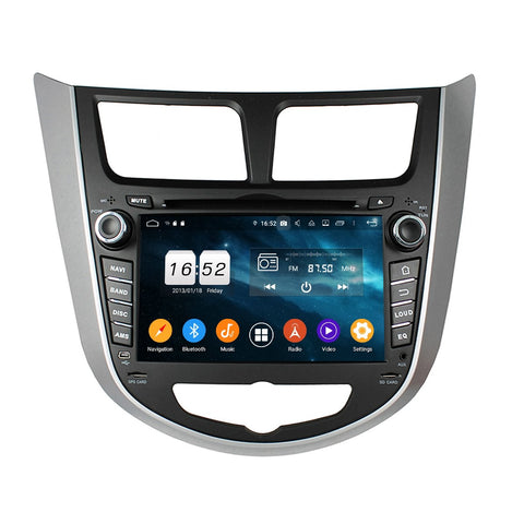 7 inch Touchscreen Android 9.0 OS Car Radio DVD Player for Hyundai Verna/Accent/Solaris(2011-2016), Octa Core 1.5G CPU 4G DDR3 RAM 32G Flash, Auto GPS Navigation Bluetooth 4G WIFI OBDII MirrorLink Headunit - foyotech