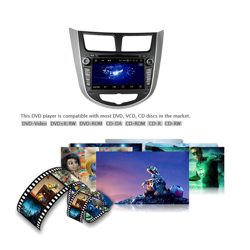 Touchscreen Android 10 Autoradio Stereo for Hyundai Verna/Accent/Solaris 2011 2012 2013 2014 2015 2016. Octa Core 1.5G CPU 32G Flash 3G 4G DDR3 RAM. 2 Din Car Radio GPS Navigation 3G 4G WIFI Bluetooth USB/SD DVD Player DSP Carplay Auto Steering Wheel Control OBDII. Double Din Vehicle Multimedia Player System Head Unit.