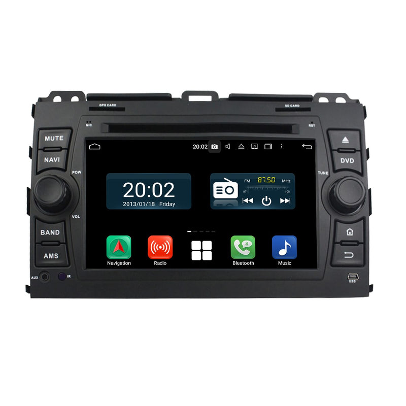 7 inch 1024x600 Touchscreen Android 10 Autoradio Stereo for Toyota Land Cruiser Prado 120 2003 2004 2005 2006 2007 2008 2009, Octa Core 1.5G CPU 32G Flash 4G DDR3 RAM. 2 Din Car DVD Player GPS Navigation 3G 4G WIFI Bluetooth USB/SD DSP Carplay Auto Steering Wheel Control OBD2. Plug and Play cable Double Din Vehicle Multimedia System Head Unit.