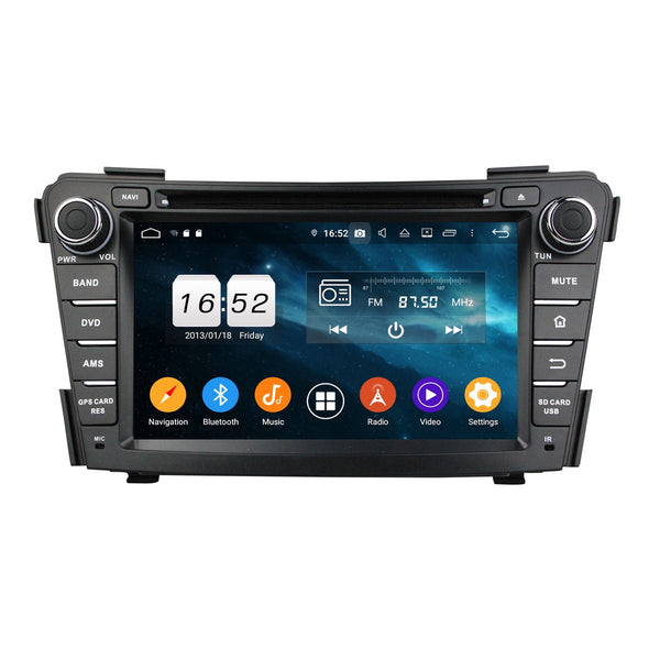 Android 9.0 OS 7 inch Touchscreen Car GPS Navigation Radio Headunit for Hyundai I40(2011-2015), Octa Core 1.5G CPU 4G DDR3 RAM 32G Flash, Auto DVD Player Bluetooth 4G WIFI OBDII MirrorLink - foyotech