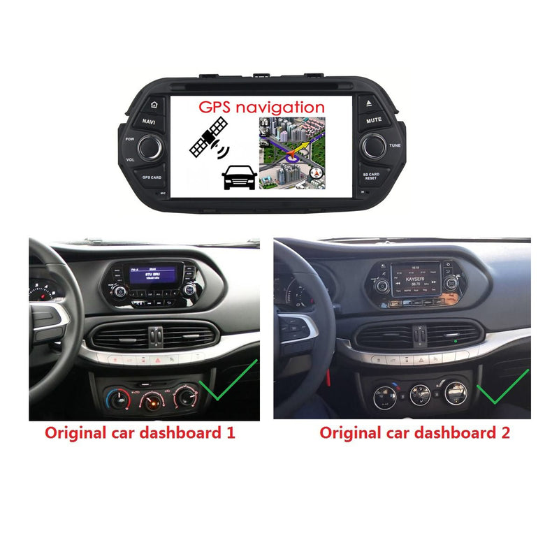 Android 10 OS 1024x600 Touch Screen 1 Din Autoradio Stereo Navigation Headunit for Fiat Tipo Egea 2016 2017 2018 2019 2020. Octa Core 1.5G CPU 32G Flash 4G DDR3 RAM. Auto Radio GPS Navi 3G 4G WIFI Bluetooth USB/SD DSP Carplay Auto Steering Wheel Control OBDII. Plug and Play cable Single Din Vehicle Multimedia Player System Head Unit.
