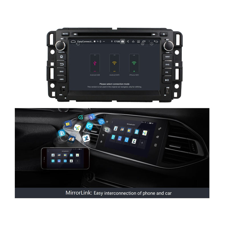 7 inch Touchscreen 2 Din Android 9.0 OS Car Stereo for GMC Yukon/Tahoe/Acadia(2007-2012),  Octa Core 1.5G CPU 4G DDR3 RAM 32G Flash, Auto DVD Player GPS Navigation Bluetooth 4G WIFI OBD2 MirrorLink - foyotech