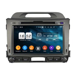 Android 9.0 OS 8 inch Touchscreen Car DVD Player for Kia Sportage(2010-2015), Octa Core 1.5G CPU 4G DDR3 RAM 32G Flash, Auto Radio GPS Navigation Bluetooth 4G WIFI OBDII MirrorLink Headunit - foyotech