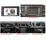Android 10 OS 1 Din 1024x600 Touch Screen Autoradio Stereo Headunit for Seat Leon 2014 2015 2016 2017 2018 2019 2020. Octa Core 1.5G CPU 32G Flash 4G DDR3 RAM. Auto Radio DVD Navi 3G 4G WIFI Bluetooth USB/SD DSP Carplay Auto Steering Wheel Control. Single Din Vehicle Multimedia Player System Head Unit. Plug and Play cable!