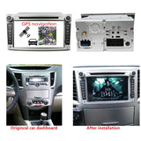 7 inch Android 9.0 OS Car Radio GPS Navi Headunit for Subaru Legacy/Outback(2009-2012), 8 Core 1.5G CPU 4G DDR3 RAM 32G Flash, Touchscreen Auto DVD Player Stereo Bluetooth 4G WIFI OBD2 MirrorLink - foyotech
