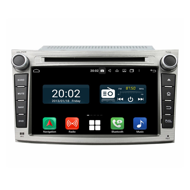Touchscreen Android 10 Autoradio Stereo Headunit for Subaru Legacy/Outback 2009 2010 2011 2012. Octa Core 1.5G CPU 32G Flash 4G DDR3 RAM. 2 Din Radio GPS Navigation 4G WIFI Bluetooth USB/SD DVD Player DSP Carplay Auto Steering Wheel Control OBDII. Plug and Play Double Din Vehicle Multimedia System Head Unit.