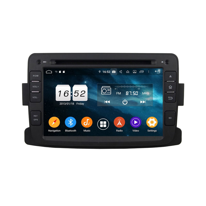 7 inch Touchscreen Car DVD Player Headunit for Renault Duster(2012-2017), Octa Core 1.5G CPU 4G DDR3 RAM 32G Flash, Android 9.0 OS Auto Radio GPS Bluetooth 4G WIFI OBDII MirrorLink - foyotech