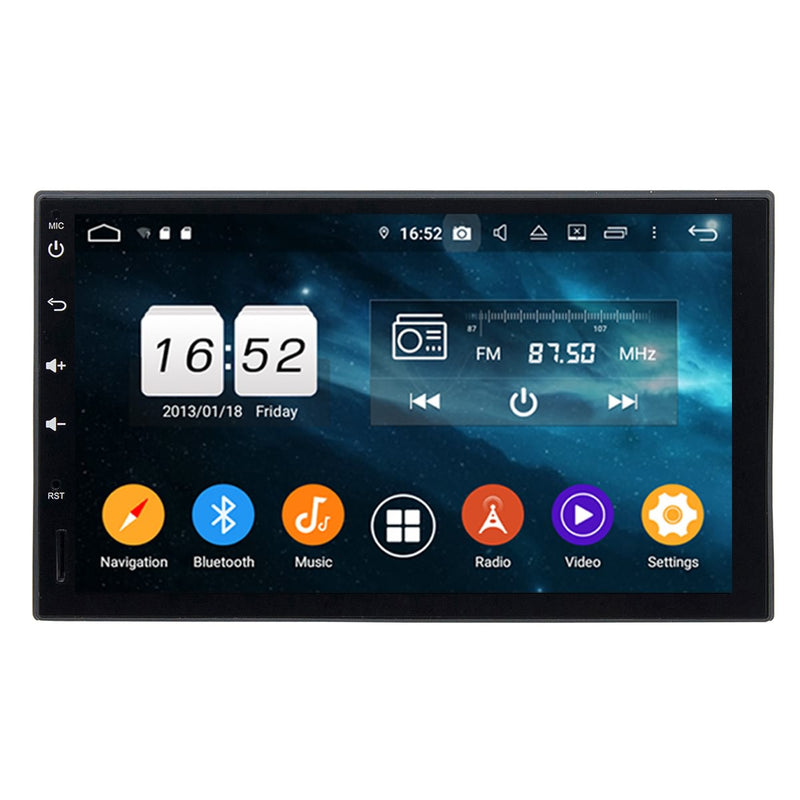 6.95 inch Full Touchscreen Android 9.0 Pie OS Universal Car GPS Head Unit, Octa Core 1.5G CPU 32G Flash 4G DDR3 RAM, Radio Bluetooth USB 3G/4G WIFI MirrorLink Headunit - foyotech