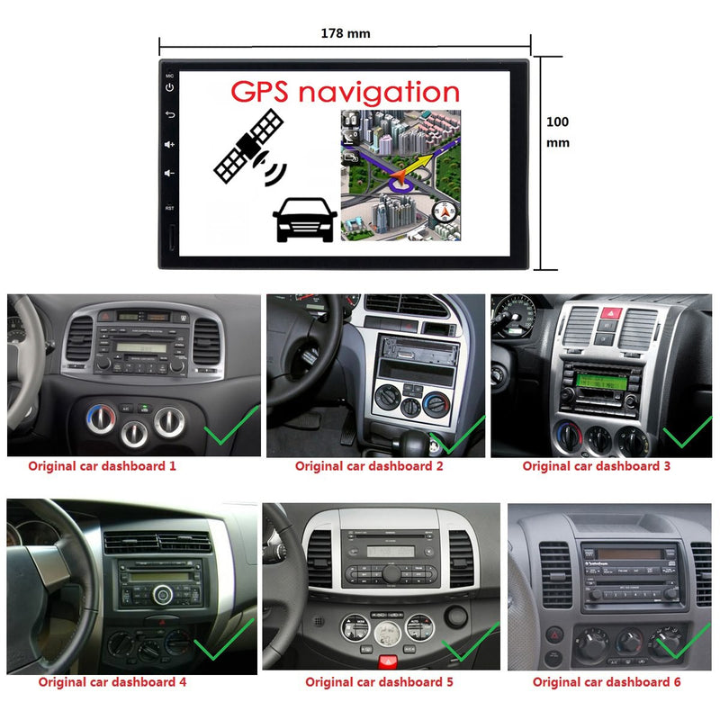 Plug and Play! 2 Din Android 10 OS 6.95 inch Capacitive Touch Screen Universal Autoradio Stereo Headunit, Built in 8 Core CPU 32G flash 4G DDR3 RAM, Radio GPS Navigation 3G 4G WIFI Bluetooth USB DSP Carplay Steering Wheel Control. Optional Digital TV/Radio Receiver. Vehicle Multimedia Player System Head Unit.