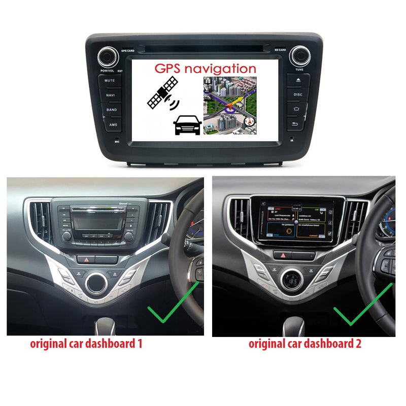 7 inch Touchscreen Android 10 OS Autoradio Stereo for Suzuki Baleno 2006 2007 2008 2009 2010, Octa Core 1.5G CPU 32G Flash 4G DDR3 RAM. 2 Din Car DVD Player GPS Navigation 3G 4G WIFI Bluetooth USB/SD DSP Carplay Auto Steering Wheel Control OBD2. Plug and Play cable Double Din Vehicle Multimedia System Head Unit.