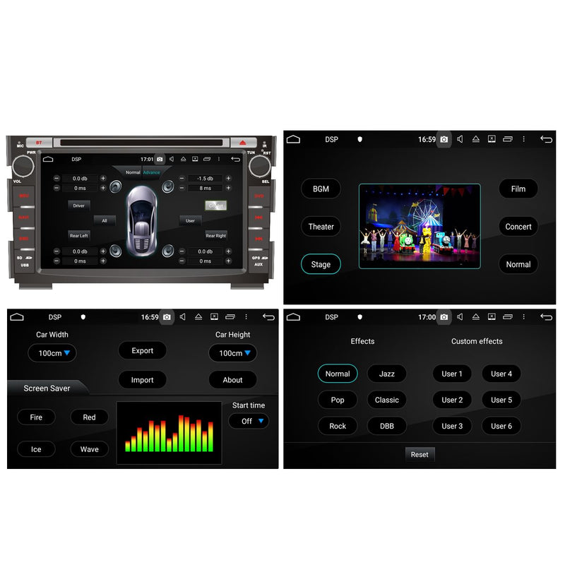 1024x600 Touchscreen Android 10 Autoradio Stereo for Kia Cee'd 2006 2007 2008 2009 2010 2011 2012 2013. Octa Core 1.5G CPU 32G Flash 3G 4G DDR3 RAM. 2 Din Auto Radio GPS Navigation 3G 4G WIFI Bluetooth USB/SD DVD Player DSP Carplay Steering Wheel Control OBDII. Double Din Vehicle Multimedia Player System Head Unit.