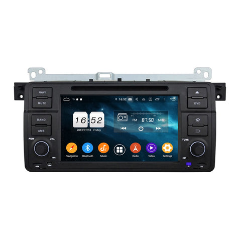 Android 9.0 OS Car GPS Navigation for BMW E46/M3(1998-2005), 8 Core 1.5G CPU 4G DDR3 RAM 32G Flash, 7 inch Touchscreen Auto DVD Player Radio Bluetooth 4G WIFI - foyotech