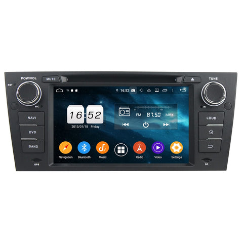 7 inch Touchscreen Android 9.0 OS Car GPS Navi Head Unit for BMW E90/E91/E92/E93(2005-2012), 8 Core 1.5G CPU 4G DDR3 RAM 32G Flash, Auto DVD Player Radio Bluetooth 4G WIFI - foyotech