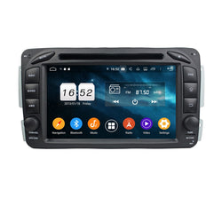 Android 9.0 Pie OS 2 Din 7 inch 1024x600 Touch Screen Autoradio Stereo Headunit for Benz W163/W209/W203/W170/W210/W168, Otca Core 1.5G CPU 32G Flash 4G DDR3 RAM, Auto Radio GPS Navigation 3G 4G WIFI Bluetooth USB/SD MirrorLink Steering Wheel Control. Double Din Vehicle Multimedia Player System. Plug and Play cables!