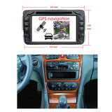 Android 10 2 Din 7 inch 1024x600 Touch Screen Autoradio Stereo Headunit for Benz W163/W209/W203/W170/W210/W168, Octa Core 1.5G CPU 32G Flash 4G DDR3 RAM, Auto Radio GPS Navigation 3G 4G WIFI Bluetooth USB/SD DSP Carplay Auto Steering Wheel Control. Double Din Vehicle Multimedia Player System. Plug and Play cables!