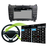 Android 10 2 Din 7 inch 1024x600 Touch Screen Autoradio Stereo Headunit for Benz W203(2004-2007)/W467(2008-2011), Octa Core 1.5G CPU 32G Flash 4G DDR3 RAM, Auto Radio GPS Navi 3G 4G WIFI Bluetooth USB SD DSP Carplay Auto Steering Wheel Control. Double Din Vehicle Multimedia Player System Head Unit. Plug and Play cables!