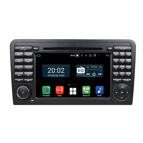 7 inch Touchscreen Android 10.0 OS Car Stereo for Benz W164(2005-2012)(ML300 ML350 ML450 ML500), 4G DDR3 RAM 32G Flash, DSP Carplay Auto DVD Player Radio GPS Navigation Bluetooth 4G WIFI