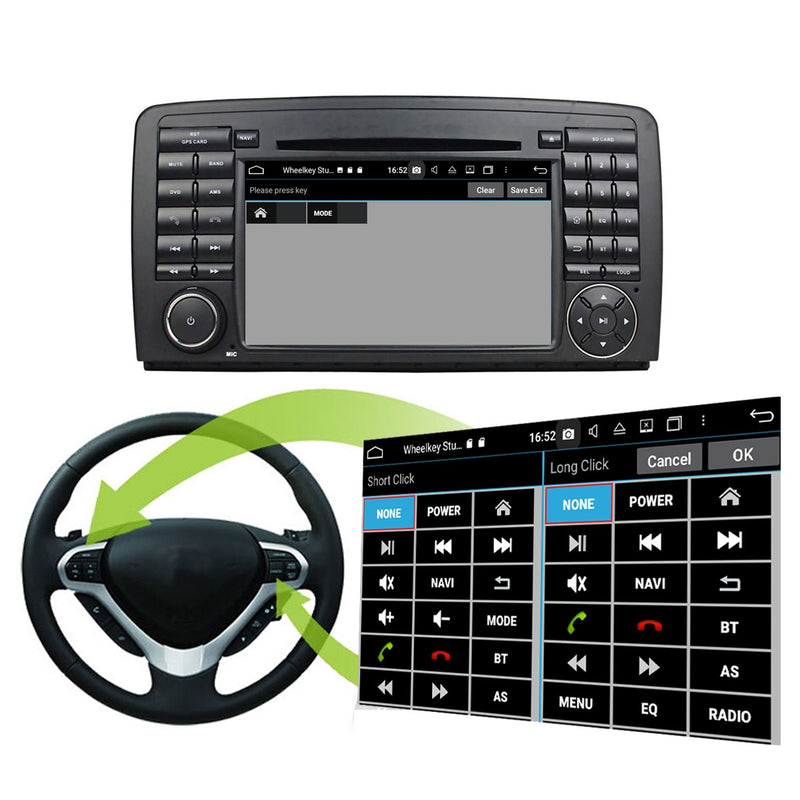 Android 10 OS 2 Din 1024x600 Touch Screen Autoradio Headunit for Benz W251/R280/R300/R320/R350/R500(2006-2011), Octa Core 1.5G CPU 32G Flash 4G DDR3 RAM, Auto Radio GPS Navigation 3G 4G WIFI Bluetooth USB/SD DSP Carplay Auto Steering Wheel Control. Double Din Vehicle Multimedia Player System Head Unit. Plug and Play!