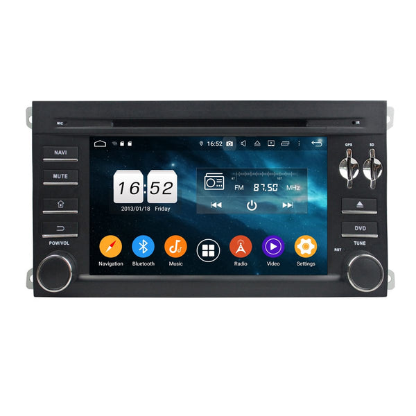 7 inch Touchscreen Android 9.0 OS Car GPS Head Unit for Porsche Cayenne(2006-2010), Octa Core 1.5G CPU 32G Flash 4G DDR3 RAM, DVD Player Radio Bluetooth USB/SD - foyotech