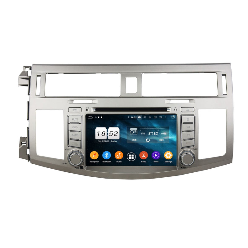 7'' Touchscreen Android 9.0 OS Car Stereo for Toyota Avalon(2008-2010), Octa Core 1.5G CPU 4G DDR3 RAM 32G Flash, Auto Radio DVD Player GPS Navigation Bluetooth 4G WIFI OBDII MirrorLink Headunit - foyotech