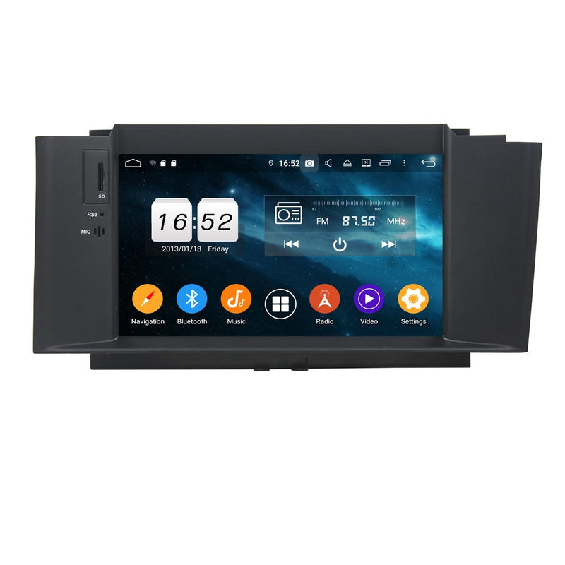 7 inch Android 9.0 OS Car GPS Navigation for Citroen C4 C4L DS4(2012-2017), Octa Core 1.5G CPU 4G DDR3 RAM 32G Flash, Auto DVD Radio Stereo Bluetooth 4G WIFI OBD2 MirrorLink Headunit - foyotech