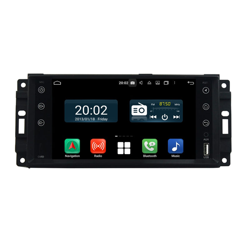 Android 10 1 Din 7 inch 1024x600 Touch Screen Autoradio Headunit for Chrysler Sebring/300C/Aspen 2007 2008 2009 2010, Octa Core 1.5G CPU 32G Flash 4G DDR3 RAM, Car GPS Navigation 3G 4G WIFI Bluetooth USB MirrorLink Steering Wheel Control. Plug and Play Single Din vehicle Multimedia Player System Head Unit.