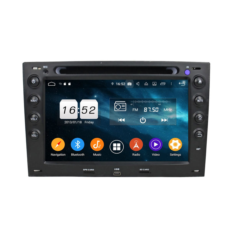 Android 9.0 OS 7 inch Touchscreen Car Radio Headunit for Renault Megane(2003-2009), Octa Core 1.5G CPU 4G DDR3 RAM 32G Flash, Auto Radio GPS Bluetooth 4G WIFI OBDII MirrorLink - foyotech