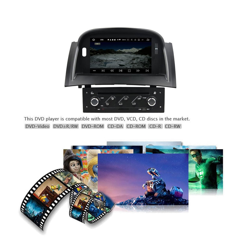 1 Din Android 10 OS Autoradio Stereo Navigation Headunit for Renault Megane II 2004 2005 2006 2007 2008 2009. 8 Core 1.5G CPU 32G Flash 4G DDR3 RAM. Auto Radio GPS Navi 3G 4G WIFI Bluetooth USB/SD DSP Carplay Auto Steering Wheel Control OBDII. Plug and Play cable Single Din Vehicle Multimedia Player System Head Unit.