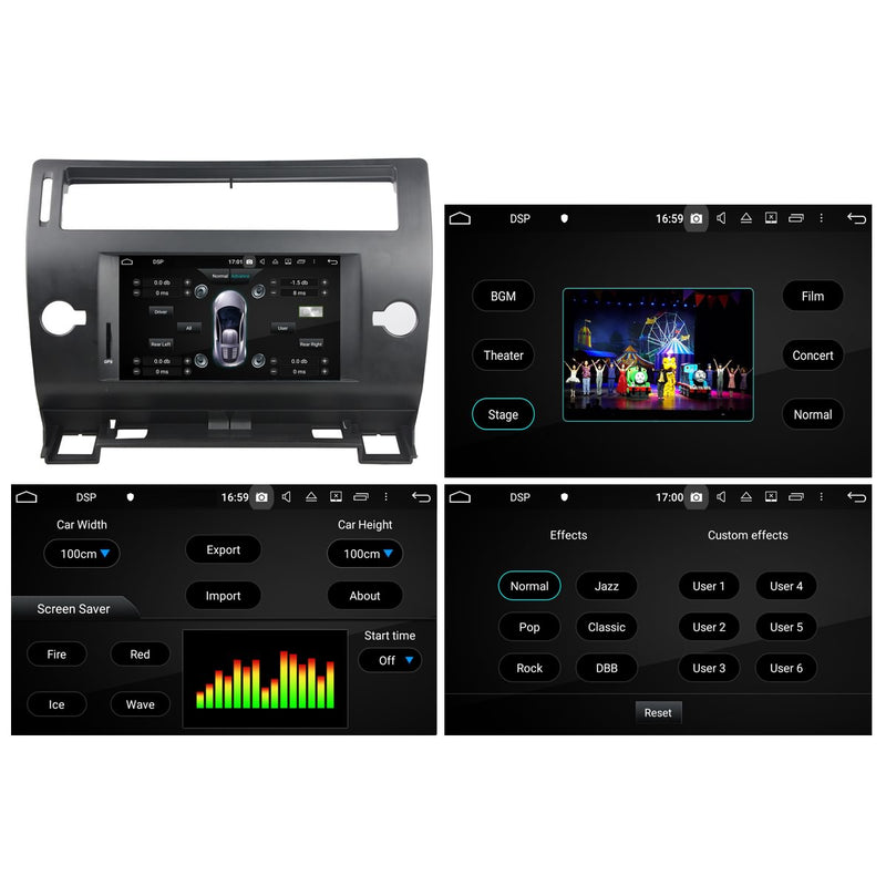 7 inch Android 10 Autoradio Stereo Navigation Headunit for Citroen C4 2005 2006 2007 2008 2009 2010 2011. Octa Core 1.5G CPU 32G Flash 4G DDR3 RAM. 1 Din Auto Radio GPS 4G WIFI Bluetooth USB DVD Player DSP Carplay Steering Wheel Control OBDII. Plug and Play Single Din Vehicle Multimedia Player System Head Unit.
