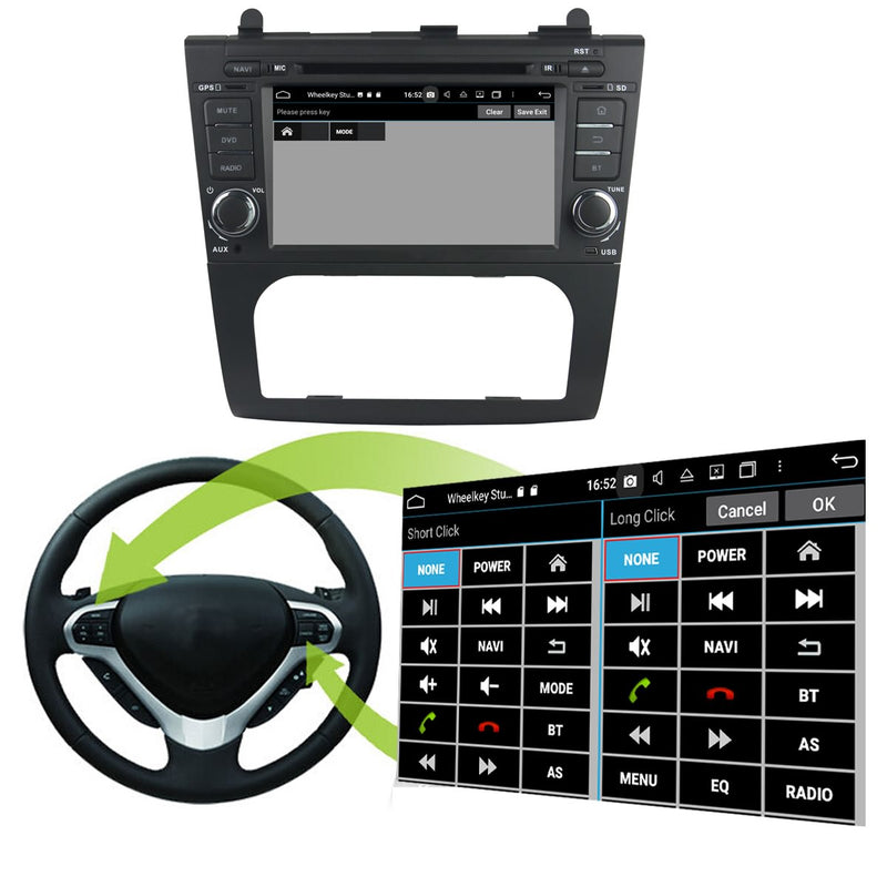 Touchscreen Android 10 OS Autoradio Stereo Headunit for Nissan Altima 2006 2007 2008 2009 2010 2011 2012. 8 Core 1.5G CPU 32G Flash 4G DDR3 RAM. 2 Din Radio DVD Player GPS Navi 4G WIFI Bluetooth USB/SD DVD Player DSP Carplay Auto Steering Wheel Control OBDII. Plug and Play Double Din Vehicle Multimedia System Head Unit.