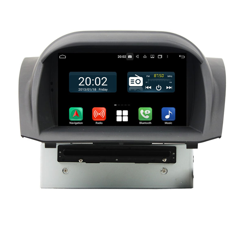 7 inch Touchscreen Android 10 OS Autoradio Stereo for Ford Fiesta 2013 2014 2015 2016, Octa Core 1.5G CPU 32G Flash 4G DDR3 RAM. 2 Din Car DVD Player GPS Navigation 3G 4G WIFI Bluetooth USB/SD DSP Carplay Auto Steering Wheel Control OBD2. Plug and Play cable Double Din Vehicle Multimedia System Head Unit.