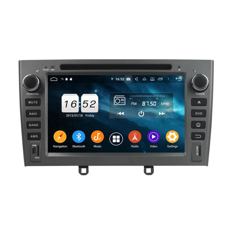 7 inch 2 Din Android 9.0 OS Car DVD Player GPS Navigation for Peugeot 408(2007-2010), 8 Core 1.5G CPU 4G DDR3 RAM 32G Flash, Auto Radio Stereo Bluetooth 4G WIFI OBD2 MirrorLink - foyotech