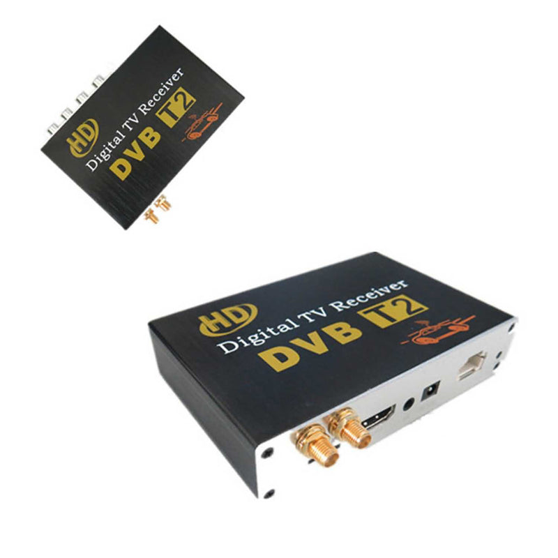 Mobile DVB-T2 TV Signal Receiver,Car Digital TV Set Top Box with CVBS HDMI Output,480i/576i/480p/576p/720p/1080i/1080P - foyotech