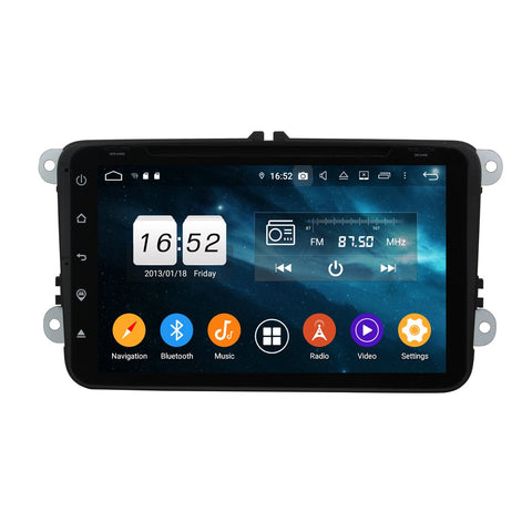 Android 9.0 OS 8 inch Touchscreen Car Radio for Volkswagen Magotan/Caddy/Passat/ Sagitar/Tiguan/Touran/CC/Polo, Octa Core 1.5G CPU 4G DDR3 RAM 32G Flash - foyotech