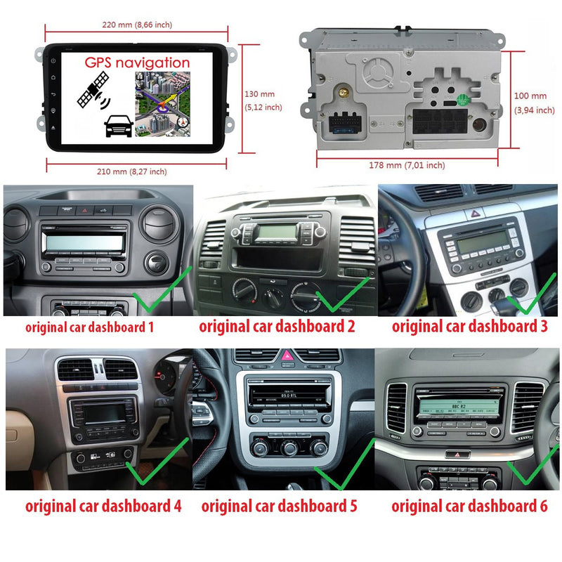 8 inch Touch Screen 2 Din Android 10 Autoradio Stereo Navigation Headunit. Octa Core 1.5G CPU 32G Flash 4G DDR3 RAM. Auto Radio GPS Navi 3G 4G WIFI Bluetooth USB/SD DSP Carplay Auto Steering Wheel Control. Plug and Play Cables Double Din Vehicle Multimedia Player System Head Unit.