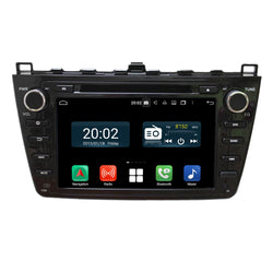 (Black) Android 10 Autoradio Stereo Navigation Headunit for Mazda 6 Ultra 2008 2009 2010 2011 2012. Octa Core 1.5G CPU 32G Flash 4G DDR3 RAM. 2 Din Radio DVD Player GPS 3G 4G WIFI Bluetooth USB DVD Player Carplay Steering Wheel Control OBDII. Plug and Play Double Din Vehicle Multimedia Player System Head Unit.
